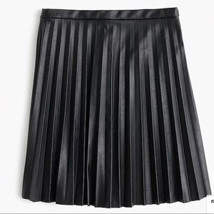 J. Crew Faux-Leather Pleated Mini Skirt Sz 4